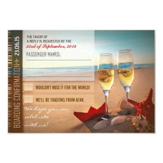 "boarding confirmation wedding RSVP cards - tickets 3.5"" X 5"" Invitation Card"