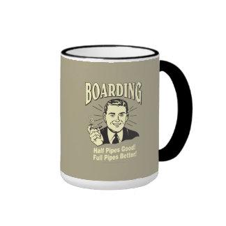 Boarding:Half Pipe's Good Full Better Ringer Mug