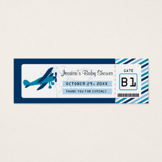 Boarding Pass Baby Shower Favor Tag
