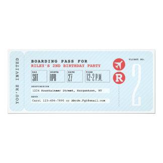 Boarding pass party invitation
