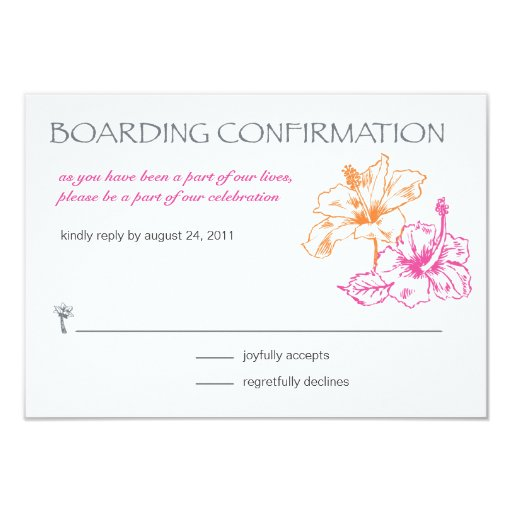 Boarding pass rsvp card 3 5 x 5 invitation card zazzle for Define rsvp on invitations