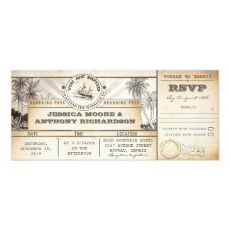 boarding pass wedding tickets- invitations