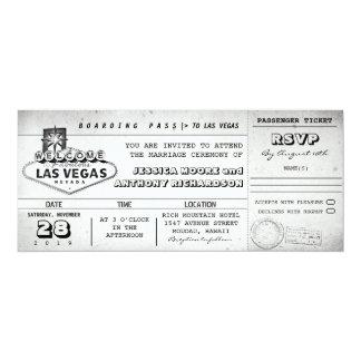 boarding pass wedding tickets LAS VEGAS Card