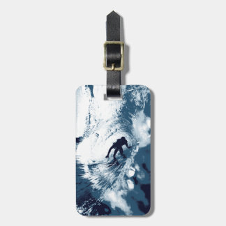 Boarding Trybe Tube, Hawaiian Surf Graphic Luggage Tag