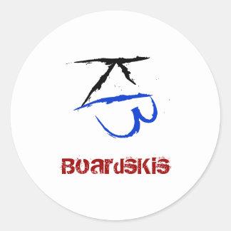 BoardsKis - Emblem Sticker (White)