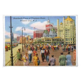 Boardwalk, Atlantic City Vintage Placemats