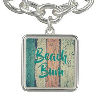 Boardwalk, beach bum charm bracelet