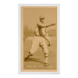 Boardwalk Brown Athletics Baseball 1914 Poster