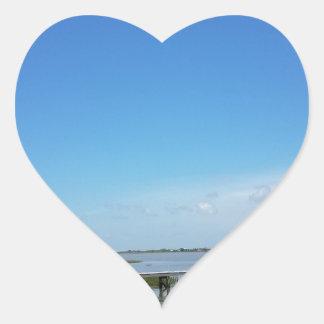 boardwalk heart sticker