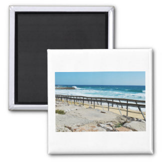 Boardwalk Overlooking Beach Travel Magnet