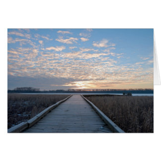 Boardwalk Sunrise in Wildlife Refuge Card