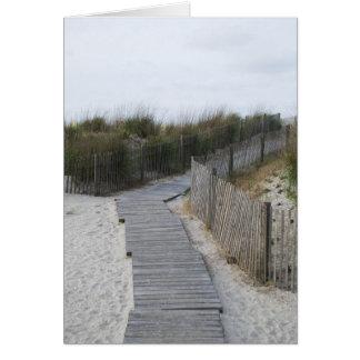 Boardwalk to Beach Atlantic City New Jersey Card