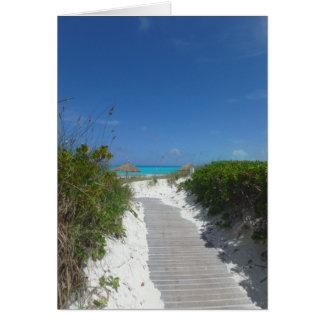Boardwalk to Beach Card