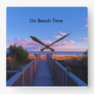 Boardwalk To The Beach Wall Clock