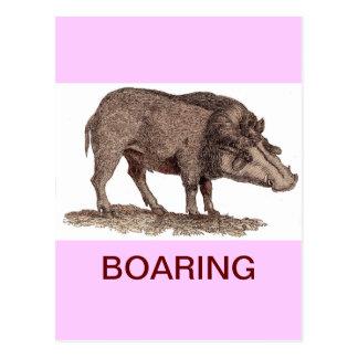 BOARING (BORING) POST CARD