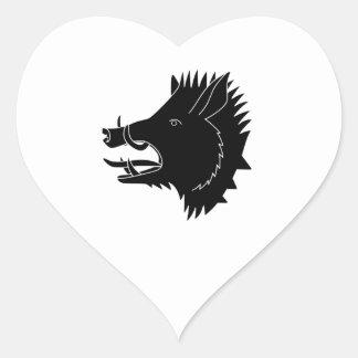 Boars R Us Heart Sticker