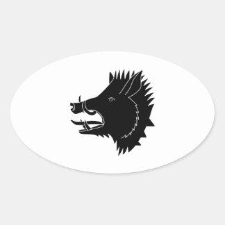 Boars R Us Oval Sticker