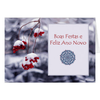 Boas Festas e Feliz Ano Novo, Portuguese Christmas Greeting Card