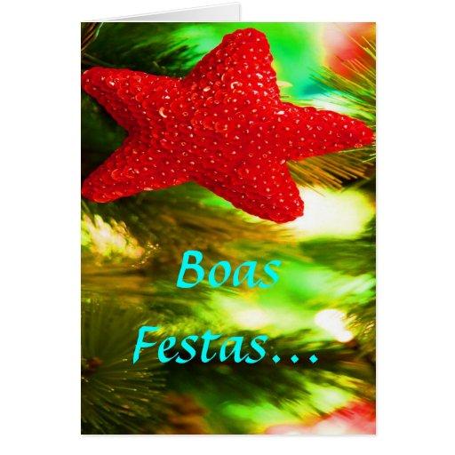 Boas Festas e um feliz Ano Novo Red Star II Cards
