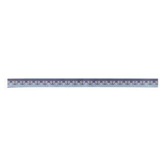 Boat Anchor design & Navy Blue Nautical Stripes Satin Ribbon
