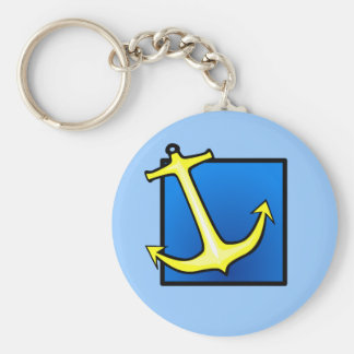 Boat Anchor Nautical Keychain