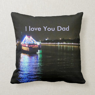 Boat and Lights Pillow