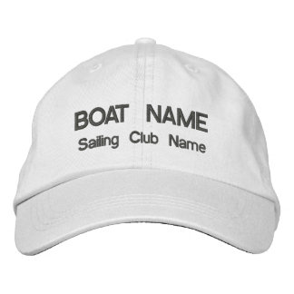 Boat and Sailing Club Hat Embroidered Hat