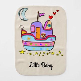 boat at night burp cloth