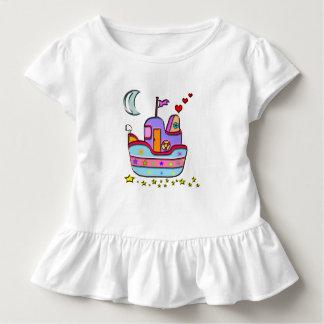 boat at night toddler t-shirt