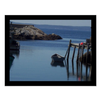 Boat at Peggy's Cove, Nova Scotia CA Poster