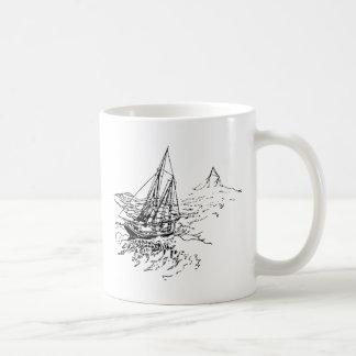 Boat at Sea Coffee Mugs
