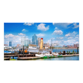 Boat - Balitimore, MD - Steam tug Baltimore 1906 Personalized Photo Card
