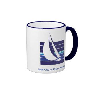 Boat Blues Square_Namedrop mug Mug