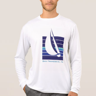 Boat Blues Square_San Francisco, CA T-Shirt