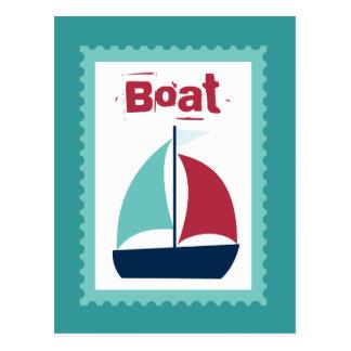 Boat Boating Sailboat Sailing Post Card