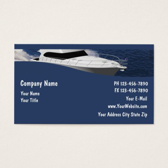 Boat business cards zazzleca for Boat business cards