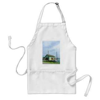 Boat By Oyster Shack Standard Apron