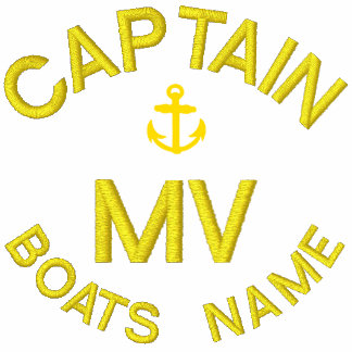 Boat captain monogram and anchor embroidered hooded sweatshirts