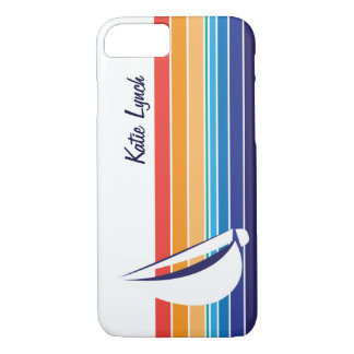 Boat Color Square_horizontal hues_personalized iPhone 7 Case