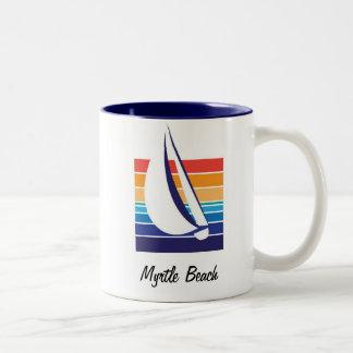 Boat Color Square_Myrtle Beach mug