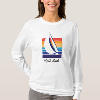 Boat Color Square_Myrtle Beach t-shirt