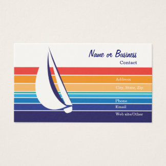 Boat Color Square_Template Business Card