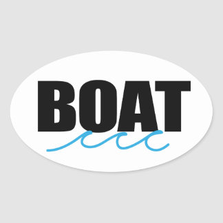 Boat decal oval sticker