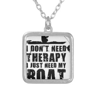 boat design beautiful silver plated necklace