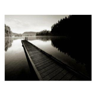 Boat Dock by Lake Postcard