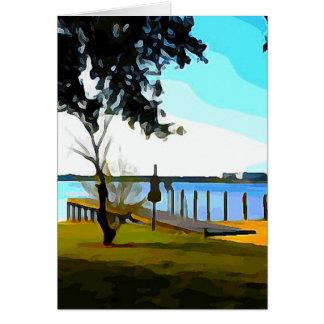 Boat Dock Lake Baldwin Card