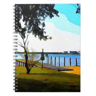 Boat Dock Lake Baldwin Spiral Notebook