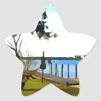 Boat Dock Lake Baldwin Star Sticker