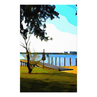 Boat Dock Lake Baldwin Stationery