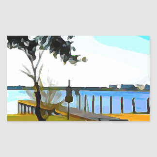 Boat Dock Lake Baldwin Sticker